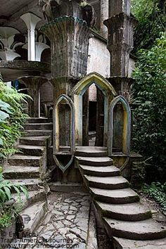 Amazing ....Las Pozas  In the Mexican rainforest is a remote mountain village called Xilitla,  home to the extraordinary surrealist architecture of Edward James