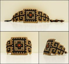 ALANGOO-Persian rug pattern handmade bracelet
