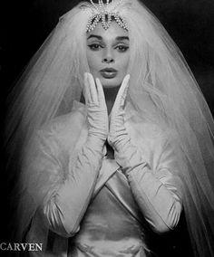 Carven 1958. LOVE the veil!