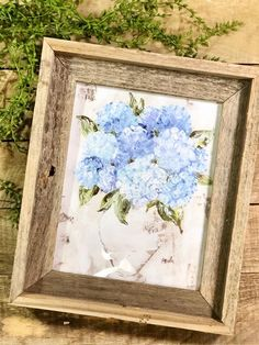 484c6856a28 Hydrangea Painting Print on Canvas in 2019