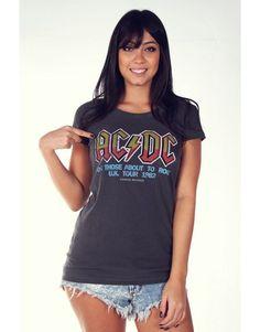 Camiseta Korova Rock Tees Acdc Uk