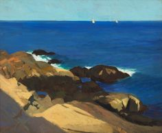 """Briar Neck, Gloucester,"" Edward Hopper, 1912, oil on canvas, 24 3/16 × 29"", Whitney Museum of American Art."