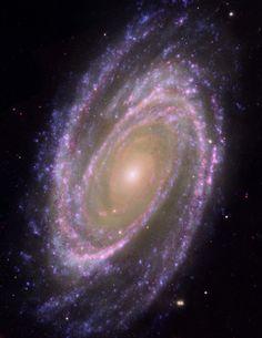 ˚Hubble/GALEX/Spitzer Composite Image of M81