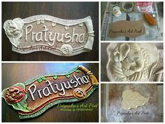 Name Plate Making Door Plates For Home Boards Clay