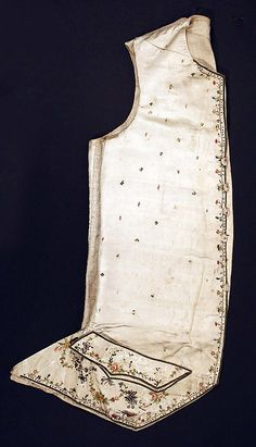 18th century, America or Europe - Silk vest