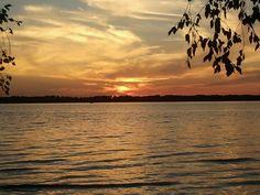Sunset castle rock lake at buckhorn state park