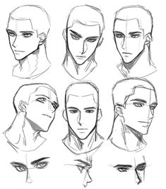 Face Drawing Reference, Male Face, Drawing Tutorial, Anatomy Sketches, Anime Faces Expressions, Face Drawing, Anime Poses Reference, Art Drawings Sketches Simple