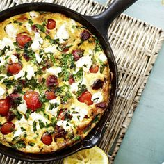 Try this Chorizo, Tomato and Feta Pan Omelette recipe.