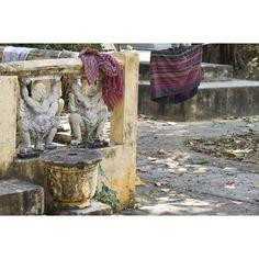 Two male statues, Cambodia