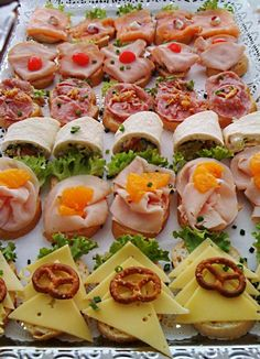 Party Buffet, Snacks Für Party, Canapes, Bruschetta, Ethnic Recipes, Holiday Desserts, Birthdays, Food And Drinks, Finger Food