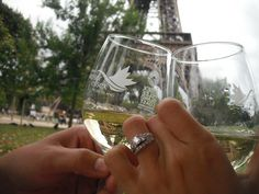 Champagne at the Eiffel Tower, Paris