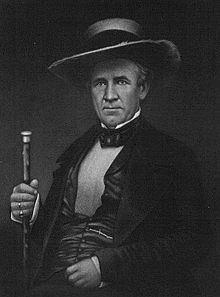 Sam Houston (1793-1863), first President of the Republic of Texas after defeating Mexico at the Battle of San Jacinto. Sam lived with the Cherokee Indians for awhile and learned to speak their language.