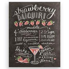 Lily & Val - Strawberry Daiquiri, Art Print, 35.5 x 27.9cm