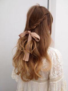 Nastro rosa antico per fiocco tra i capelli