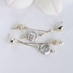 Silver earrings boho jewelry Baroque pearl   Etsy Handmade Pearl Jewelry, Boho Jewelry, Earrings Handmade, Wedding Jewelry, Unique Jewelry, Silver Pearls, Baroque Pearls, Boho Earrings, Pearl Earrings