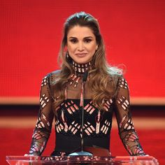 "Queen Rania of Jordan spoke during the ""A Heart for Children's Annual Gala"" in Berlin. Sharing a photo from the charity event, she said, ""Humbled to receive the Heart for Children's Golden Heart Award in Berlin. Grateful to all those who have dedicated their lives to support children and families in need, especially in these turbulent times."""
