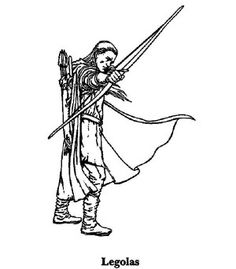 Legolas Aim Orcc With His Bows And Arrows In The Lord Of Rings Coloring Page
