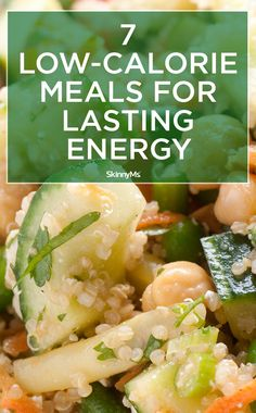 This list is filled with low-calorie, high-energy foods, such as quinoa, wild rice, buckwheat, barley, oatmeal, and bulgur.