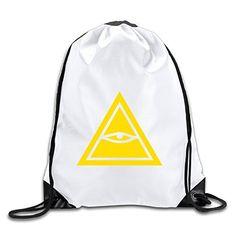Hunson - Geek Eye Of Horus Backpack Sack Bag Drawstring Sling Backpack For Men & Women Sackpack -- Check out the image by visiting the link.