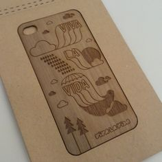 BIRDS WOOD STICKER FOR IPHONE4