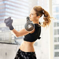 Watch Get a Knockout Body: A Kickboxing, Dance and Strength Training Workout in the Fitness Magazine Video