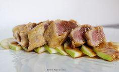 Tagliata di tonno su letto di mele verdi | Barbie magica cuoca - blog di cucina