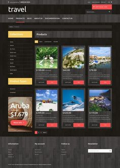 Travel Agency Responsive Shopify Theme E-commerce Templates, Shopify Themes, Sports, Outdoors & Travel, Travel Templates, Travel Agency Templates