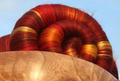 Phat Fiber January 2016 - Dragons and Fantasy 'Fafnir's Heart' Rolags - 100g (14.00 GBP) by FellviewFibres