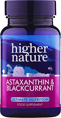 Higher Nature Astaxanthine and Blackcurrant Capsules Pack of 90 - vitamins-minerals...