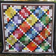 I Spy Diamond #Quilt tutorial by Melissa Corry from Happy Quilting