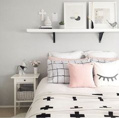 White And Pastel Bedroom Decor Ideas on A Budget Dream Rooms, Dream Bedroom, Home Bedroom, Girls Bedroom, Bedroom Decor, Bedroom Black, Bedrooms, Girl Rooms, Light Gray Bedroom