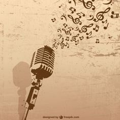 Retro microphone with grunge music concept Free Vector Micro Vintage, Musik Wallpaper, Microphone Tattoo, Retro, Music Drawings, Music Tattoos, Music Notes, Free Vector Graphics, Illustration