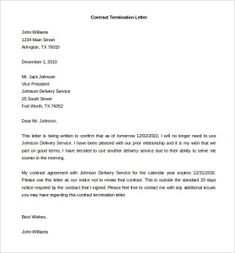 Employment Termination Letter Template Magnificent Employee Termination Letter Employee Termination Agreement .