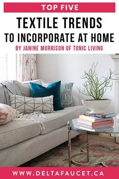 Get Inspired. Top 5 Textile Trends to Try At Home Best Interior Design, Interior Design Inspiration, Bathroom Inspiration, Living Room Modern, Living Room Decor, Going For Gold, Kitchen And Bath Design, Home Decor Trends, Inspired Homes