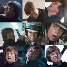 Son of Skywalker - . The Many Wonderful Faces of Luke Skywalker Star Wars Cast, Star Trek, Kit Fisto, Anakin Skywalker, Mark Hamill Luke Skywalker, Star War 3, Mara Jade, Star Wars Humor, Love Stars