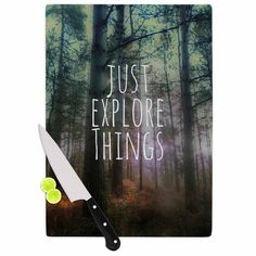 "Kess InHouse Alison Coxon ""Just Explore Things"" Green Photography Cutting Board ("