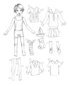 SweetPaulMag.com: Lova's World: Printable Paperdolls - Meet London!