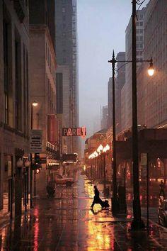 Rainy Night, Chicago, Illinois