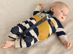 Newborn Kids Baby Boys Striped Long Sleeve Cutton Romper Jumpsuit Clothes 0-12M #Everyday
