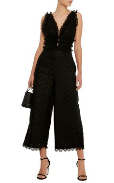 Winsome Eyelet Jumpsuit by ZIMMERMANN Now Available on Moda Operandi