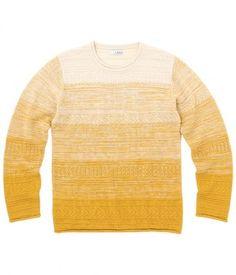 Gradation knit / ShopStyle(ショップスタイル): ジュンレッド グラデーションクルーネックプルオーバーニット