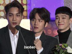 kai's speech ft. an extremely supportive baekhyun :3 #kaibaek