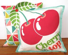 Any 3D Fruit Cushion & Fruity Triangles Cushion - 2 cover pack. £50.00
