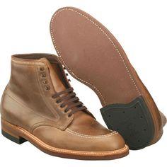 Alden Men's #Indy #Boot High Top Blucher Workboot Natural Chrome Excel Style #: 40557H | #TheShoeMart   #alden #shoes