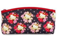 8e1b0927d Sanrio Hello Kitty Japanese pattern Pouch Chirimen SAKURA Made in Japan  Pouch Pattern, Japanese Patterns