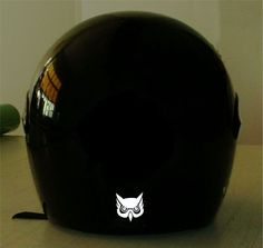 OWL  REFLECTIVE MOTORCYCLE HELMET DECAL.2 FOR 1 PRICE
