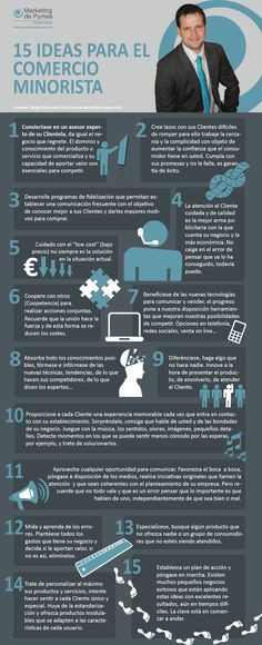 15 ideas para el comercio minorista #infografia #infographic #marketing