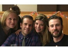 Chris Evans with his bro, Scott, and their sisters
