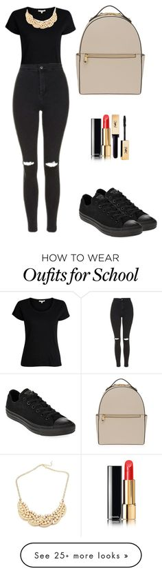 """""""school days 5"""" by ilhanselin on Polyvore featuring Topshop, Henri Bendel, Chanel and Converse"""