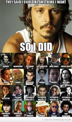 Woo hoo go Johnny Depp! - Woo hoo go Johnny Depp! - Lily dip Woo hoo go Johnny Depp! Woo hoo go Johnny Depp! Benny And Joon, John Depp, The Meta Picture, Bon Film, Funny Memes, Hilarious, Robert Downey Jr, I Laughed, Actors & Actresses